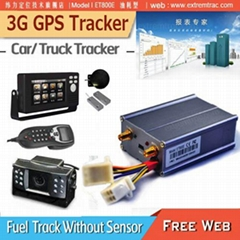 WCDMA 3G GPS Car tracker 3G GPS vehicle tracker Fuel monitor temperature sensor