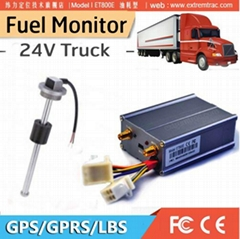 GPS truck tracker fuel monitor oil track with fuel sensor