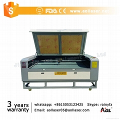CCD Camera laser cutting machine for trademark brand logo label applique