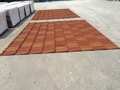 Stone coated steel roof tiles gradient colors