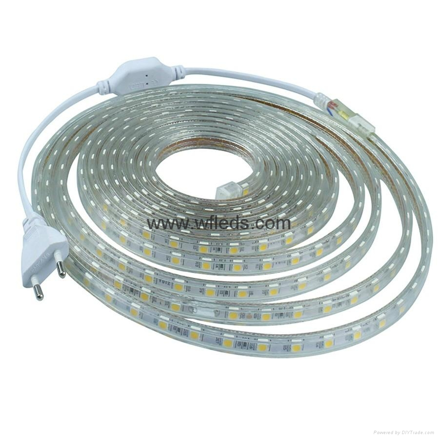 lampes led ruban led 220v 110v bleu blanc flexible led strip lights smd5050 wf 5050 60leds. Black Bedroom Furniture Sets. Home Design Ideas