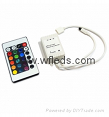 12V 24 Key Wireless led IR Remote Controller For 3528 5050 RGB LED Strip Light