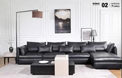 Leather Sofa L Shape Corner Sofa LZ717