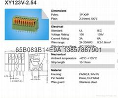环保认证弹簧式接线端子