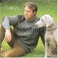 Woolen blended hunting style jumper