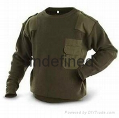 woolen blended uniform army style sweater
