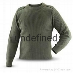 Crew neck style military pullover uniform
