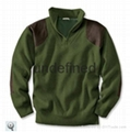 Merino wool hunting jersey sweater