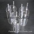 large quartz process tubes one end