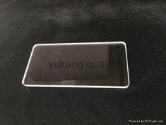 transparenet polished Rectangular quartz plate with round corners