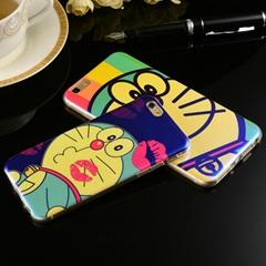哆啦A梦苹果6/6S/6 plus/7/7plus蓝光卡通手机壳