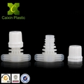 Flexible packaging plastic spout screw