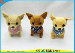 High Quality Kid's Game Chihuahua Walking Barking Electric Stuffed Puppies