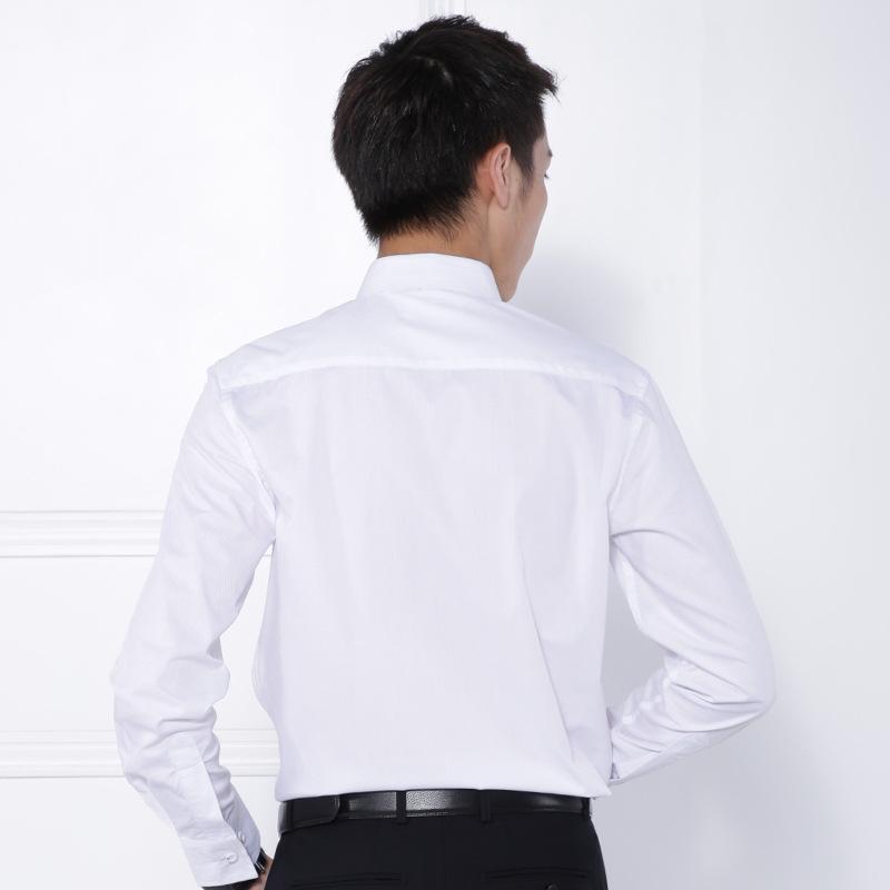 男士新款长袖商务白色衬衫修身职业装现货 4