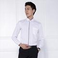 男士新款长袖商务白色衬衫修身职业装现货 2
