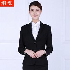 韩版黑色外套抗皱免烫商务正装厂家直供