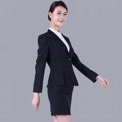 株洲职业装批发一粒扣制服女套装
