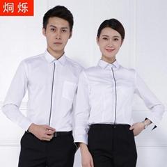 长沙工作服男女同款衬衫职业装批发