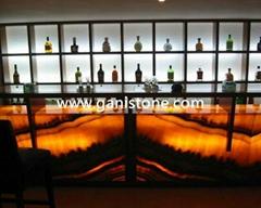 Translucent Backlit Onyx Bar Decoration