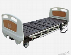 Three Functions Super Low Electric Hospital Bed