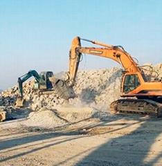 Excavator crusher
