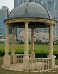 Stone gazebo for garden