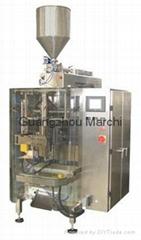 Liquid and paste packaging unit