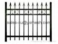 Zinc tubular steel fence