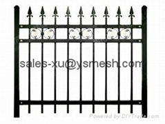 Zinc tubular steel fence