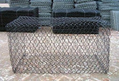 River protection hexagonal wire mesh pvc ga  anized gabions made in china