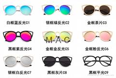 Round Sunglasses Women Brand Designer Female Sunglass Points Sun Glasses