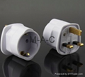 3 Pin 13 Amp UK To Euro Travel Adapter