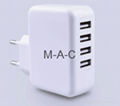 approved fast charging 5V 4.5A 4 usb port mobile travel charger