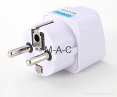 Universal UK US AU to EU AC Power Socket