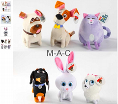 12-27cm New The Pets Plush Toy Max Snowball Gidget Mel Chloe Buddy Cartoon Doll