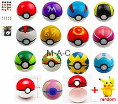 20pcs/lot 10pcs 7cm Pokeballs+10pcs Poke ball Pikachu Action Figures Toy