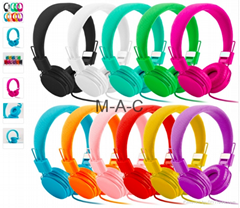 3.5mm Cartoon Earphone Pink Headset Dj Headphone For Girls Kids With Mic