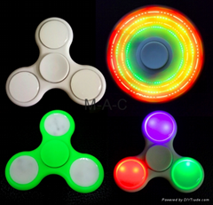 led Tri-Spinner Fidget Anti Stress Sensory luminous finger Spinner