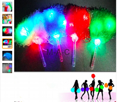 2017 Dance LED Lighting Cheerleading Pompon Hand Ball Pom Poms Flower Cheering