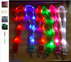 LED Light Up Neck Strap Band Lanyard key chain ID Badge Hanging Lace Rope Unique (Hot Product - 1*)