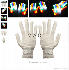 Hot A Pair LED Gloves Color Changing Luminous Flashing Skeleton Gloves Halloween