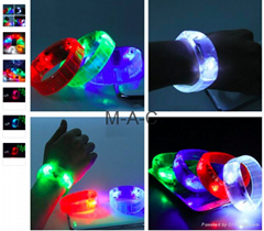 Voice Control LED Bracelet Sound Activated Flashing Bracelet Wristband for Night