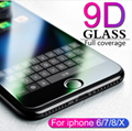 9D protective glass for iPhone 6 6S 7 8