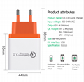Universal 18 W USB Quick charge 3.0 5V 3A for Iphone 7 8