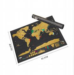 Scratch MapScratch Off World Travel MapPoster Copper Foil Wall Sticker