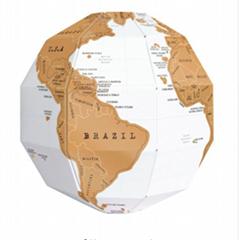 DIY Scratch Globe 3D Ste