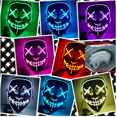 Halloween Mask LED Light Up Party Masks
