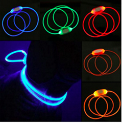 LED Dog Collar USB Rechargeable Glowing Dog Collars Luminous Pet Led Flash Night