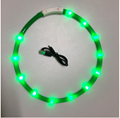 Pet Dogs Cats USB Rechargeable Flashing Night Collars Luminous Collar LED Light  2