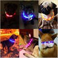 Pet Dogs Cats USB Rechargeable Flashing Night Collars Luminous Collar LED Light  3